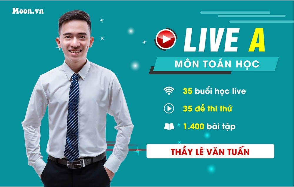 Live A : Luyện 35 đề chuẩn môn Toán  2021
